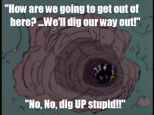 Dig up stupid