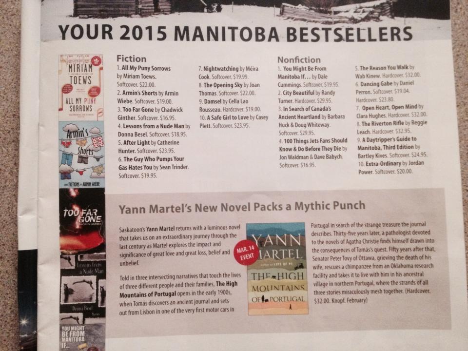 McNally Manitoba Bestsellers List 2015